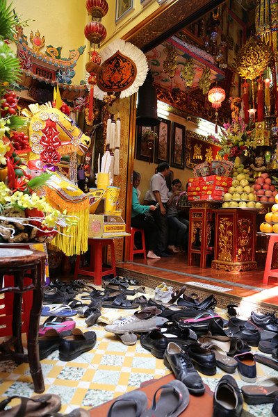 HaNoi, upstairs at a small temple in the old district. Nov 2013