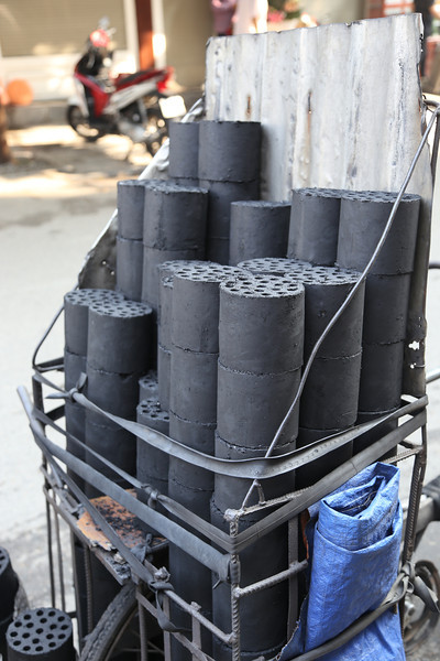 HaNoi, pressed coal cylinders for cooking, last time I saw there were in Beijing years ago. Nov 2013