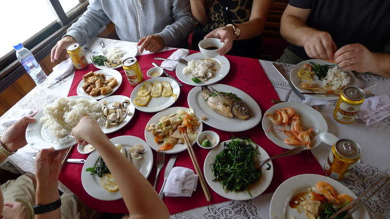 Lunch was good, Halong Bay Nov 2013