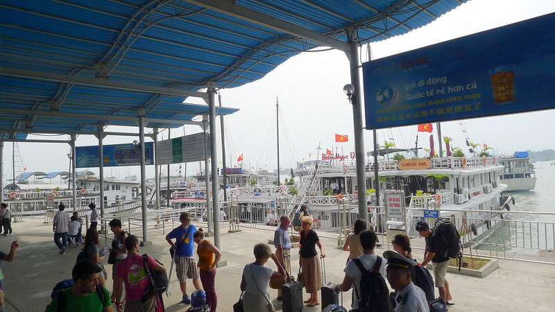 Halong Bay embarkation point. Nov 2013