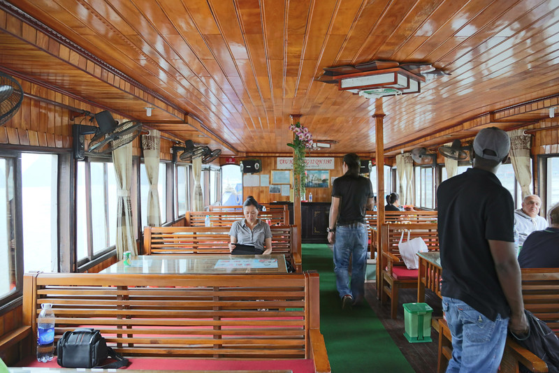 inside the tour boat, Halong Bay Nov 2013