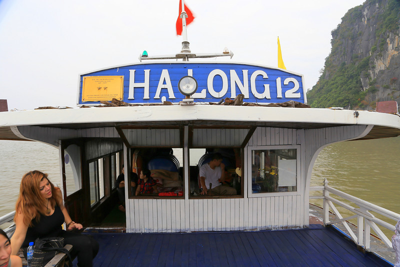 Our boat, Halong Bay Nov 2013