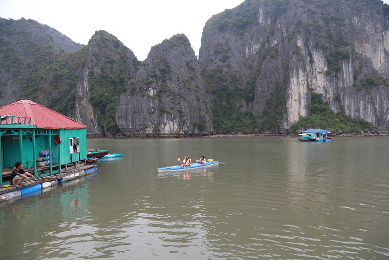 Kayaking stop,  Halong Bay Nov 2013