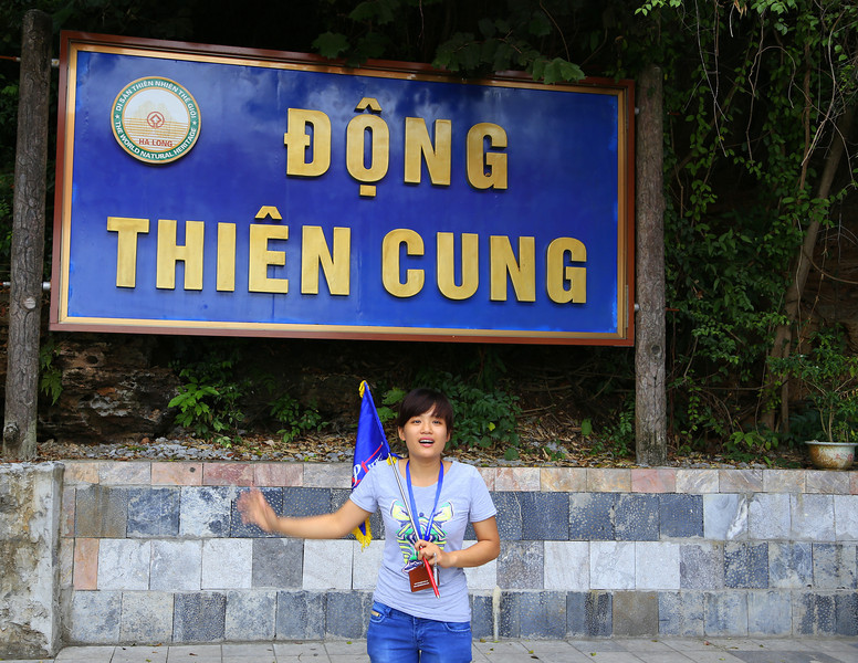 For Dau Go  Cave(Thousand wooden stakes) , our tour guide, she was good fun. Nov 2013