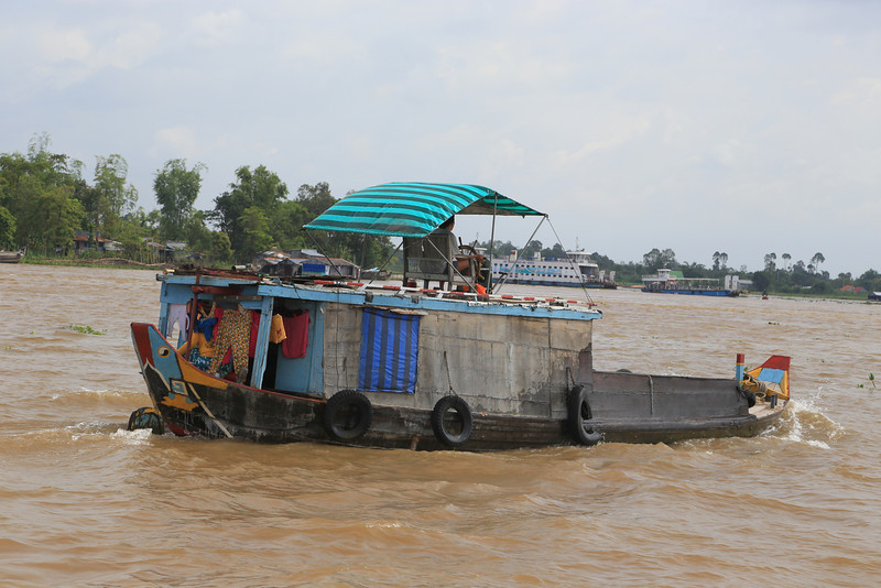 the Mekong is very busy all sorts and sizes of shipping. Nov 2013