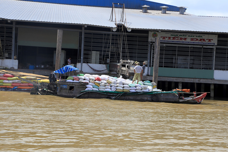 the Mekong is very busy all sorts and sizes of shipping Nov 2013