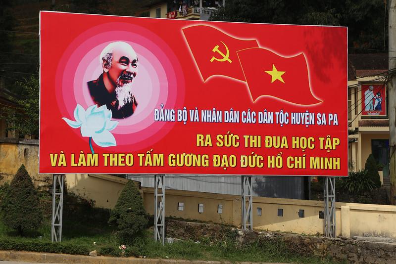 Ho Chi Minh billboard, SaPa Nov 2013