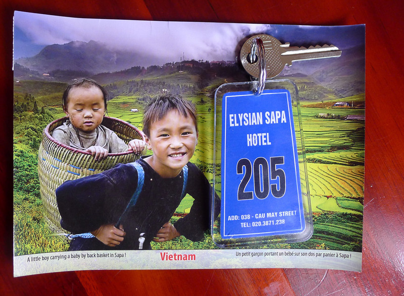 Elysian Hotel in SaPa, I recommend it, very convenient and central, my experience was excellent, always a hot cup of tea when you were in the lobby, a comfy sofa to use. Lovely people. Nov 2013