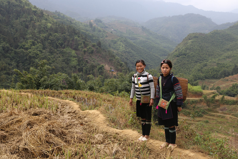 Trail, from Cat Cat  village to Lao Chai. Nov 2013