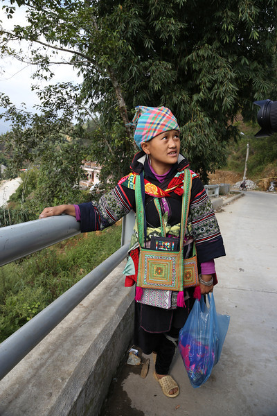 Hmong lady near Cat Cat Vilage Nov 2013