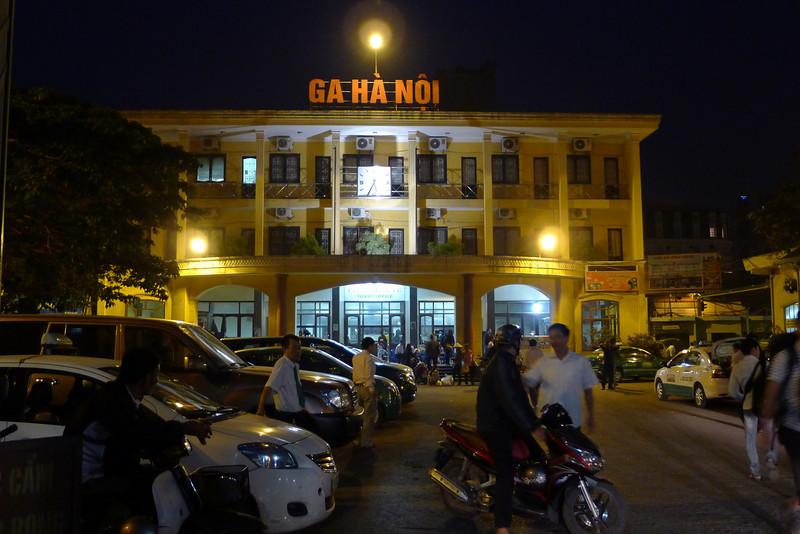 Hanoi train station, for overnight train to Sapa. Nov 2013