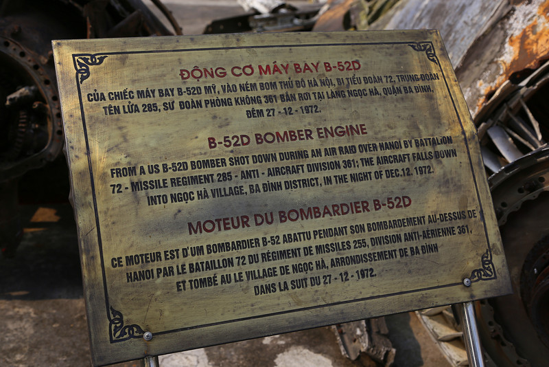 sign about the B52-D engine. Nov 2013