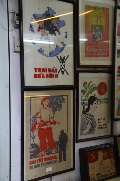 Lots of Poster shops in HaNoi, interesting artwork. Nov 2013