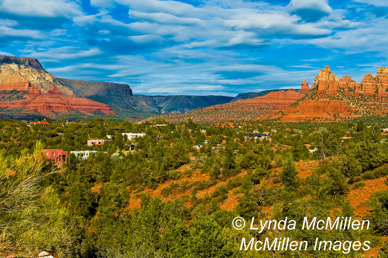 Coconino National Forest and iconic red rock formations of Sedona.