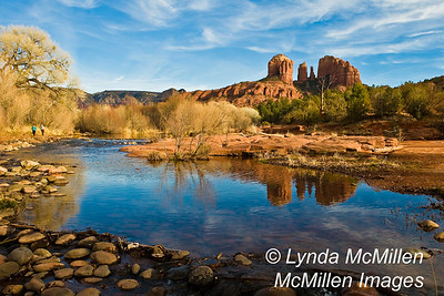 Cathedral Rock reflected in Oak Creek, #191