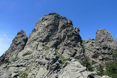 Punta di Agellu: L'arête de Zonza est à gauche...