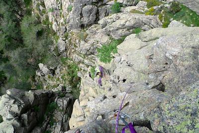 Du sommet de la deuxième tour, nous décidons d'être original et de partir à l'aventure...