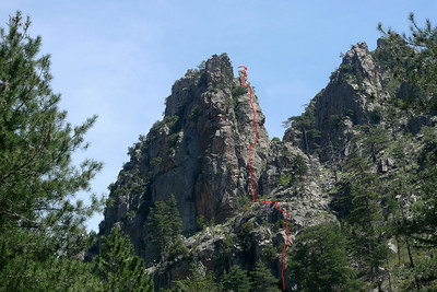 Monte Leonardo, itinéraire.