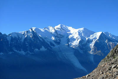 Depuis le sommet de la Flégère, du télésiège de l'Index, la vue est assez sympa...