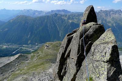 """S'en suit une courte descente... Ambiance """"montagne"""" !"""