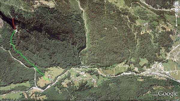 Cascade du Dard, Accès.