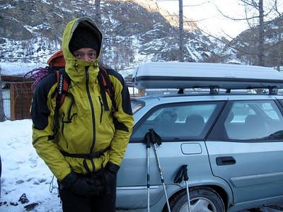Ce matin là, -16°C au parking... A glagla ! - Photo Tristan.