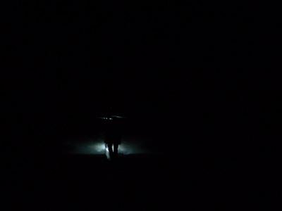 2h00 de marche sur le glacier... Dans la nuit !