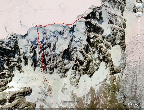 Aiguille du Midi, Eperon des Jumeaux