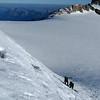 Le neige ce matin est dégueulasse à cette altitude, nous brassons pas mal...