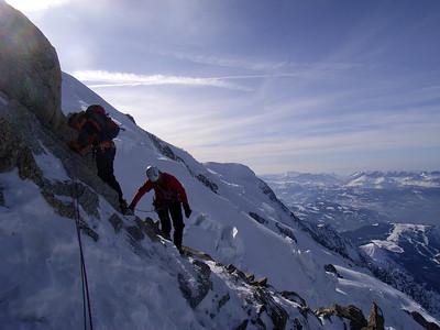 L'ambiance est superbe... avec vue sur les pré Alpes...