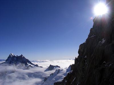 Le vue, l'ambiance et le magie du versant est du Tacul...