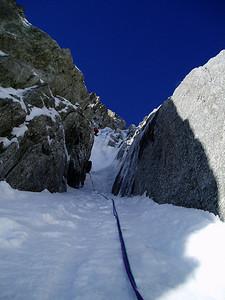 Premier étranglement, un court passage à 80° - Photo Jean-Yves.