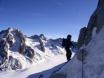Le vue sur le Glacier d'Argentière est superbe...