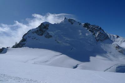 Le Mt Maudit depuis l'épaule du Tacul...