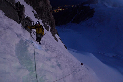 Le Col du Mt Maudit, une belle pente qui peu vite devenir LA difficulté de l'itinéraire...