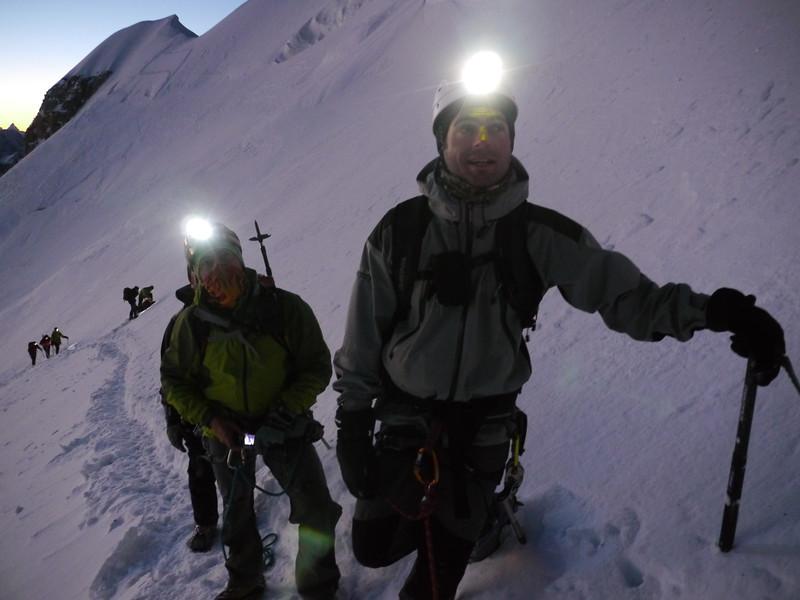 Au pied du col du Mt Maudit, les gorges se serrent...