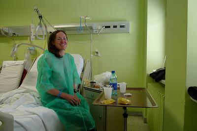 Claire rejoint l'Hospital d'Aoste... 2 cotes cassŽées !