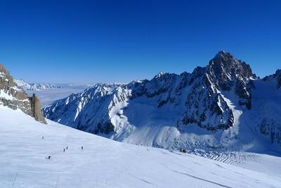 Station des Grands Montets... Pendant que tout le monde ski, nous sortons des itinéraires balisés...
