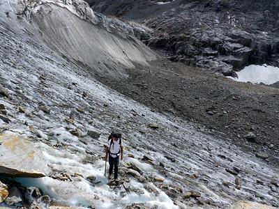 La remontée du glacier est un peu longue...