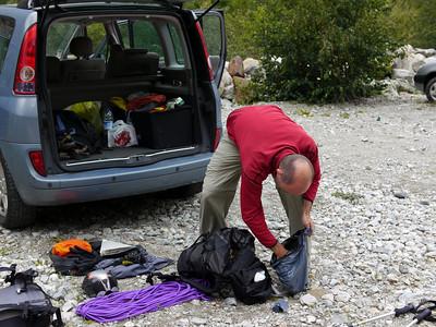 Départ de la Bérarde... Préparation du sac...