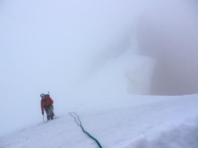 Allez, encore un effort pour arriver au col W des Bans... dans de la neige complètement dégueulasse..