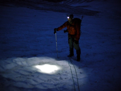 Nous remontons donc le glacier de la Pilatte pour la voie normale des Bans...
