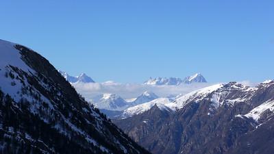 Vue sur le Mt Blanc, ce qui n'est pas rien dans une cascade pareil...
