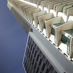 Abstract architecture on a blue sky