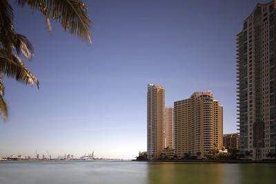 Brickell Key and Port Miami