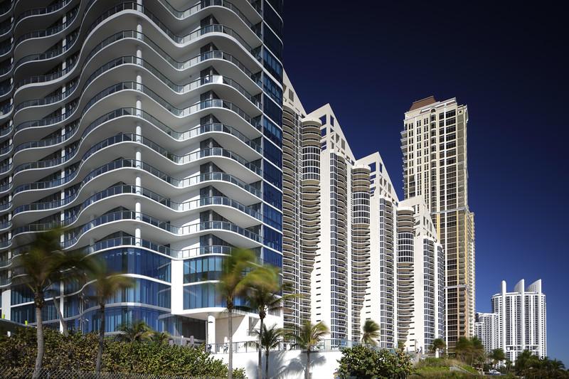 Stock photo of highrise condominiums in Sunny Isles Beach FL