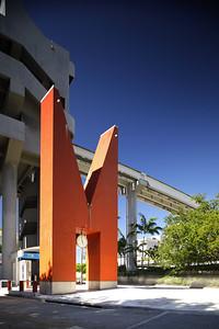 Miami Riverwalk Metrorail Station Orange M