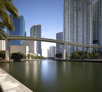 Miami River and surrounding buildings