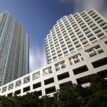 Miami highrise architecture shot with a wide angle lens