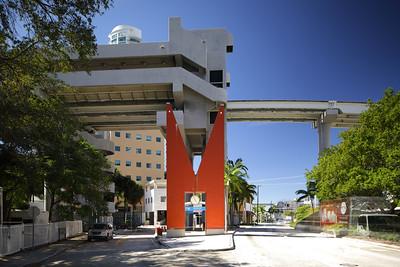 Orange M at Downtown Miami Metrorail Riverwalk Station